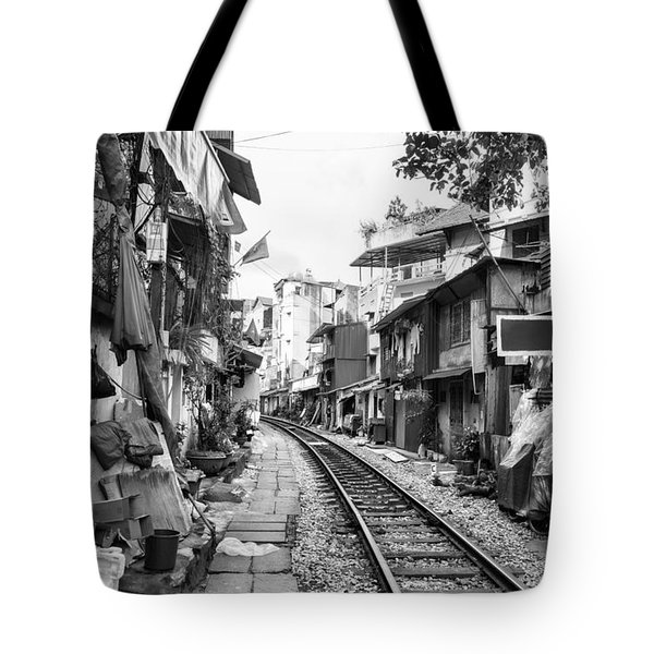 Back Tracks Hanoi Bw Tote Bag