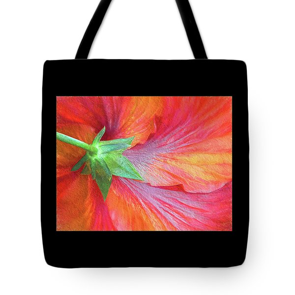 Back View Of A Giant Hibiscus Tote Bag by Gerda Grice