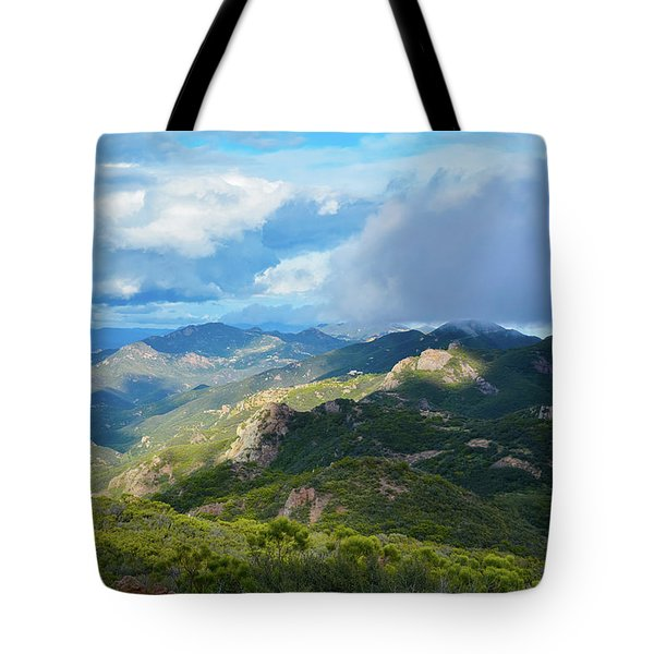 Backbone Trail Santa Monica Mountains Tote Bag