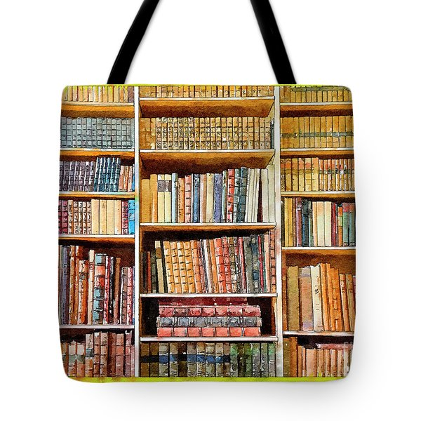 Tote Bag featuring the digital art Background From Old Books by Ariadna De Raadt