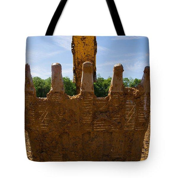 Backhoe Bucket Tote Bag