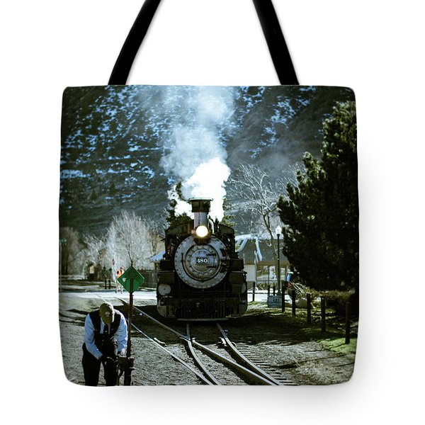 Backing Into The Station Tote Bag