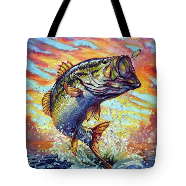 Backlit Bass Tote Bag