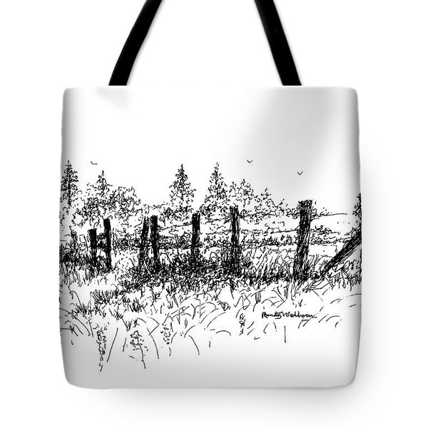 Backlit Fence Tote Bag