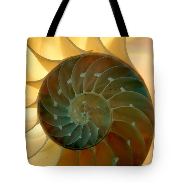 Backlit Nautilus Tote Bag