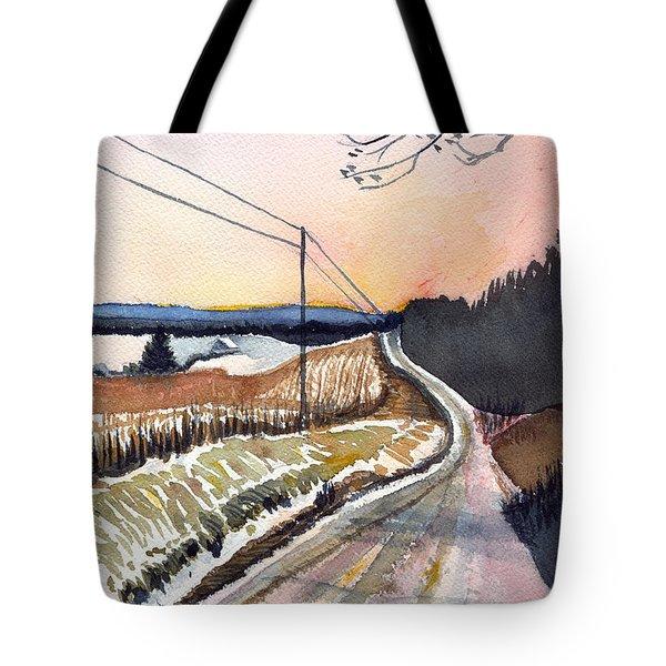 Backlit Roads Tote Bag by Katherine Miller