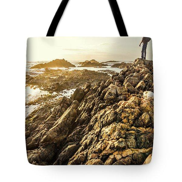 Backpacking A Tropical Sundown Tote Bag