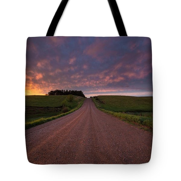 Tote Bag featuring the photograph Backroad To Heaven  by Aaron J Groen