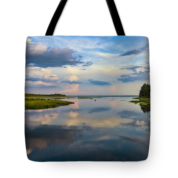 Backwater Sunset Tote Bag