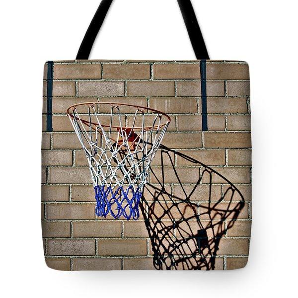 Backyard Basketball Tote Bag