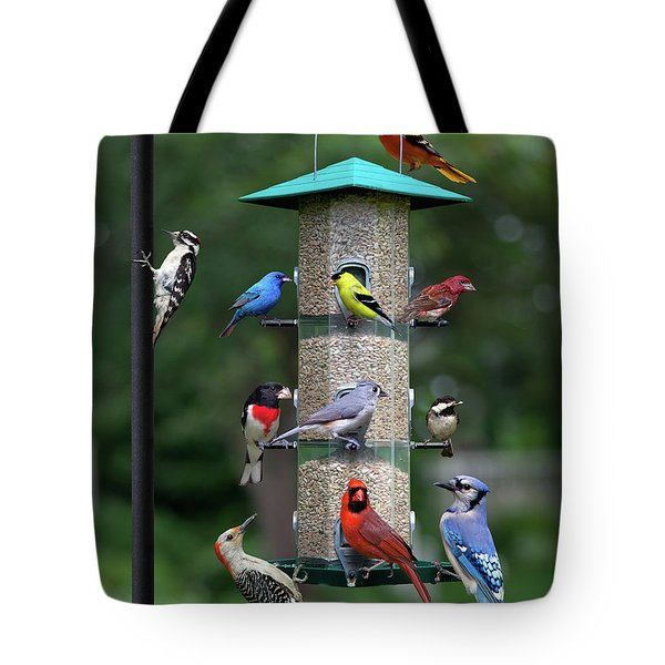 Backyard Bird Feeder Tote Bag