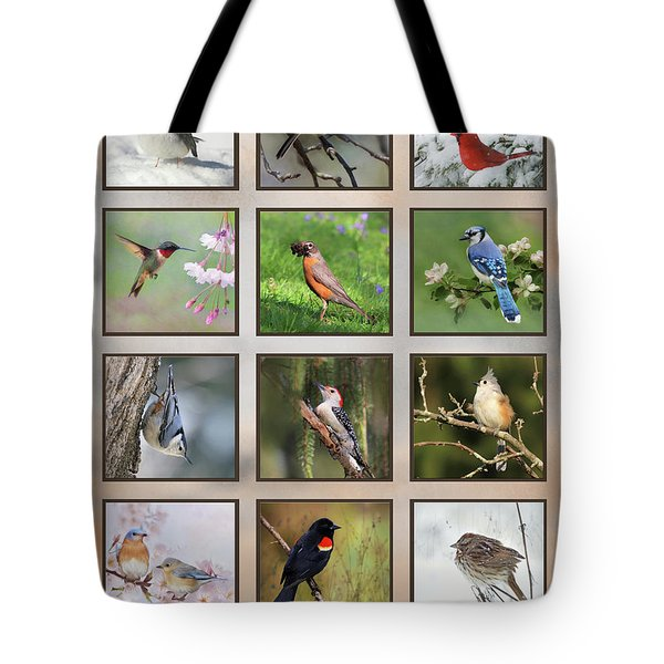 Tote Bag featuring the photograph Backyard Birds by Lori Deiter