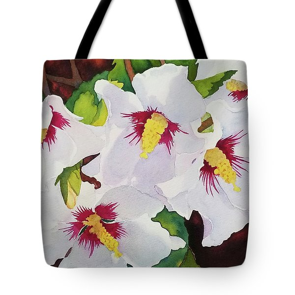 Backyard Blooms Tote Bag