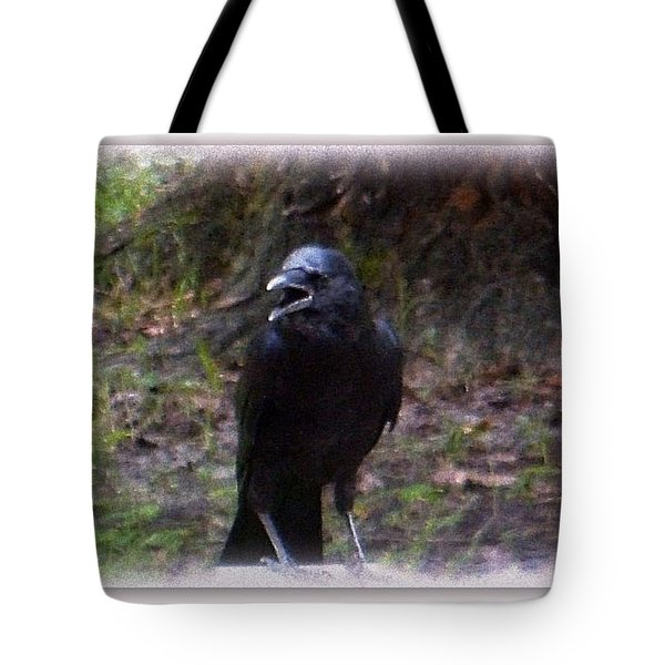 Backyard Crow Tote Bag