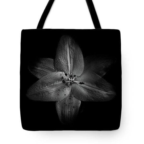 Tote Bag featuring the photograph Backyard Flowers In Black And White 28 by Brian Carson