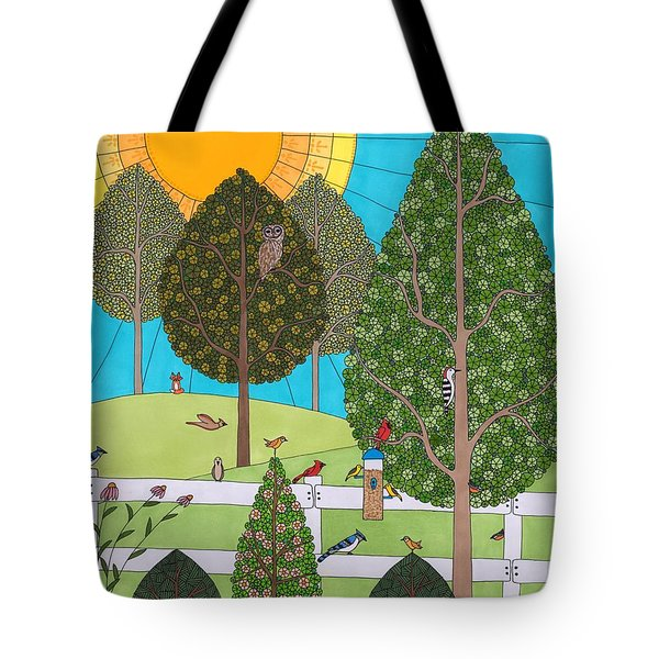 Backyard Gathering Tote Bag