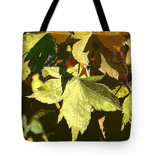 Backyard Leaves Tote Bag
