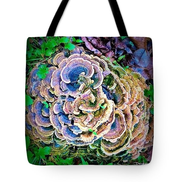 Tote Bag featuring the photograph Backyard Mushroom  by Dedric Artlove W