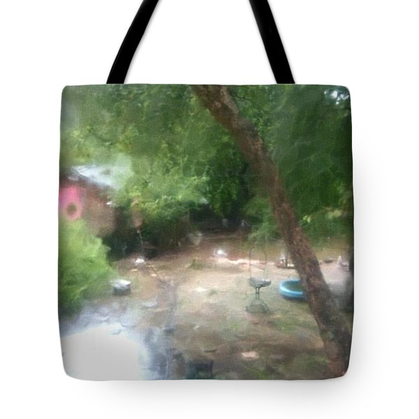 Backyard Rain Tote Bag