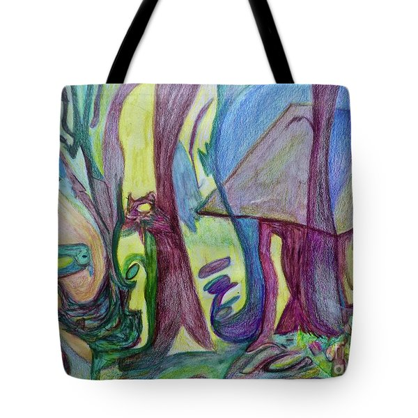 Backyard Spring Tote Bag