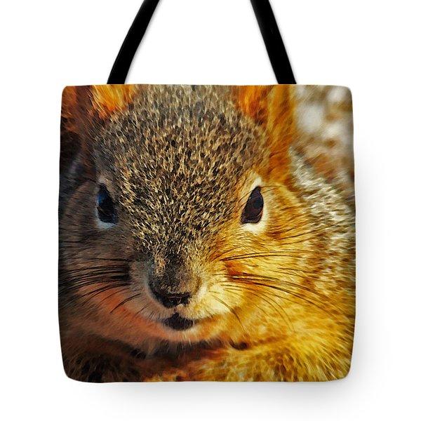 Backyard Squirrel Tote Bag