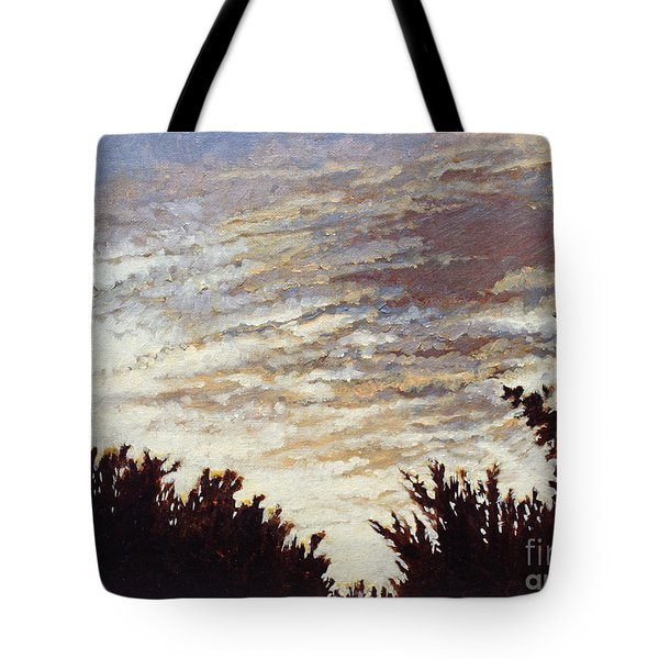 Backyard Sunset Tote Bag