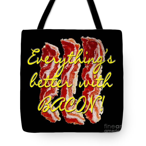 Bacon Tote Bag by Methune Hively
