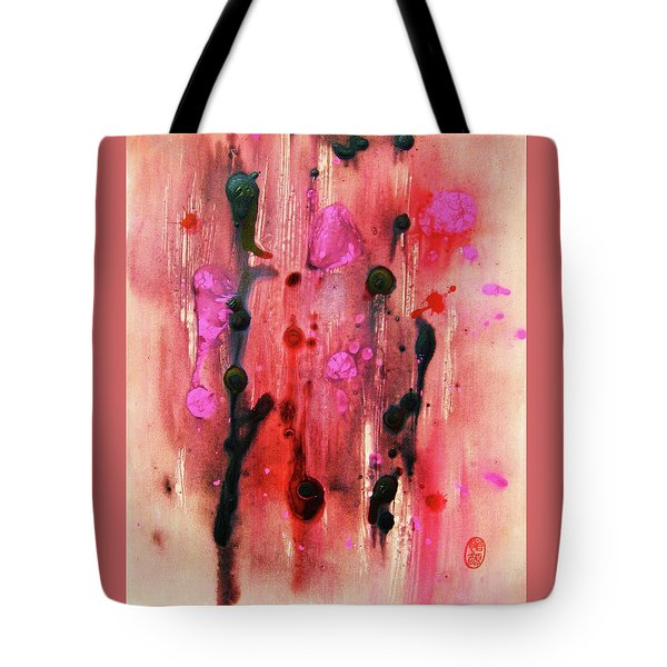 Tote Bag featuring the painting Bacteriophages by Roberto Prusso
