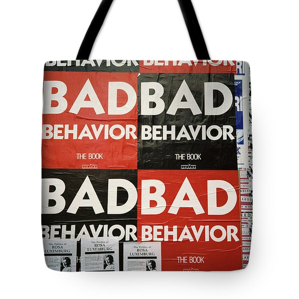Bad Behavior Tote Bag