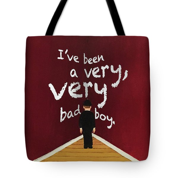 Bad Boy Greeting Card Tote Bag by Thomas Blood