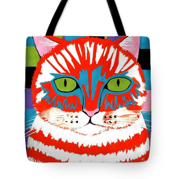 Bad Cattitude Tote Bag