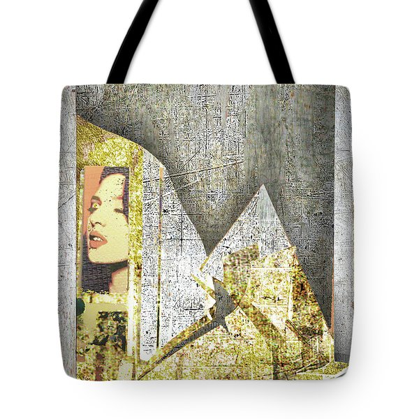 Tote Bag featuring the mixed media Bad Luck by Tony Rubino