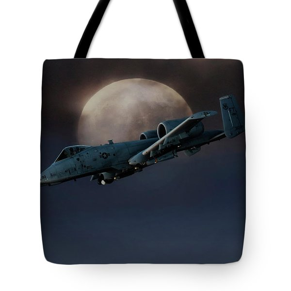 Tote Bag featuring the digital art Bad Moon by Peter Chilelli