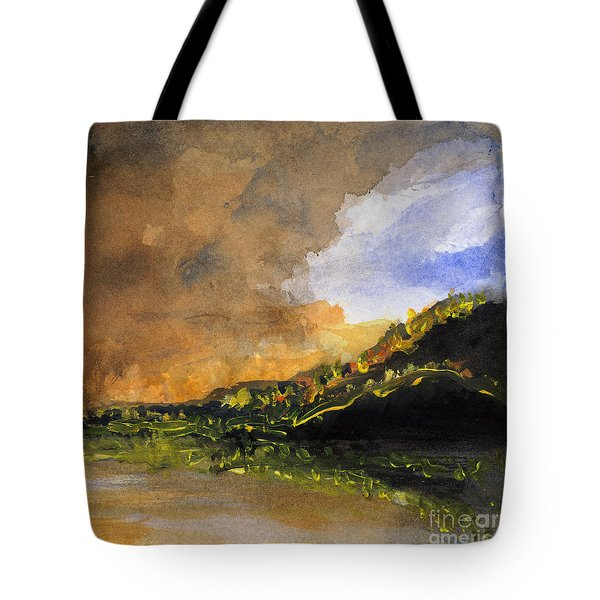 Bad Night Coming Cross The Bay Tote Bag by Randy Sprout