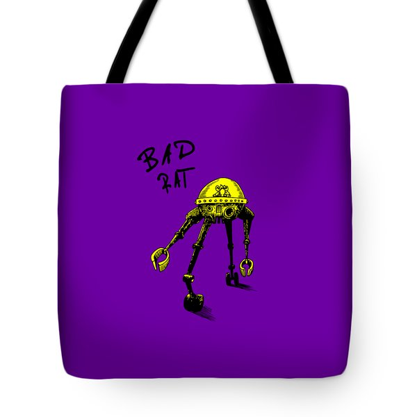 Bad Rat In Retro Yellow Tote Bag
