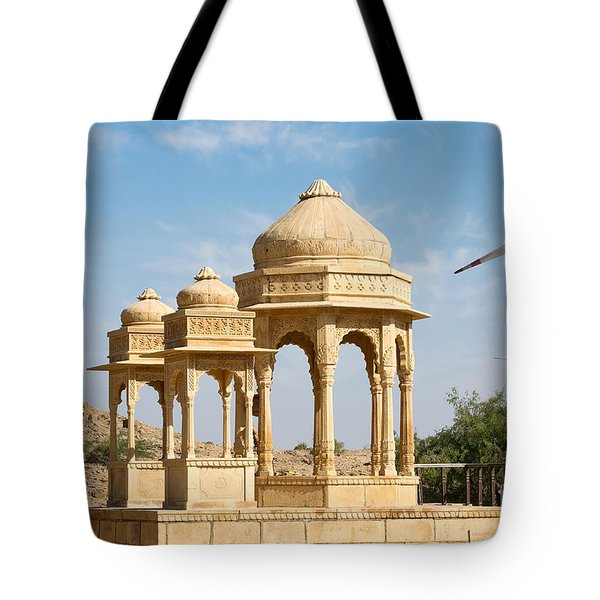 Tote Bag featuring the photograph Bada Bagh And Windmill by Yew Kwang