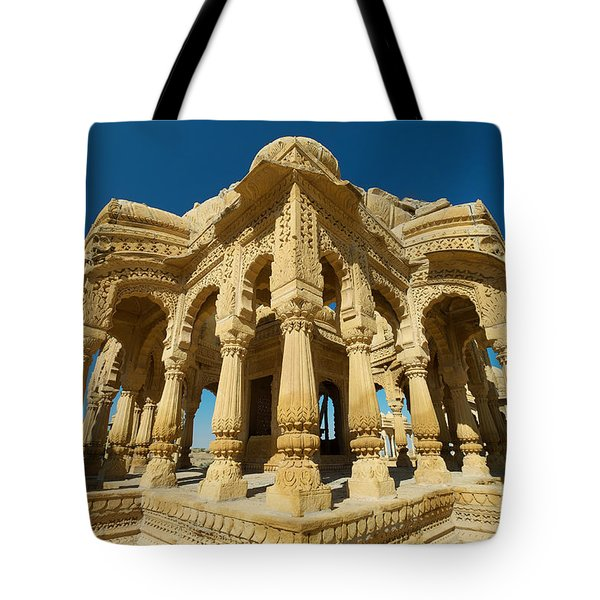 Tote Bag featuring the photograph Bada Bagh  by Yew Kwang