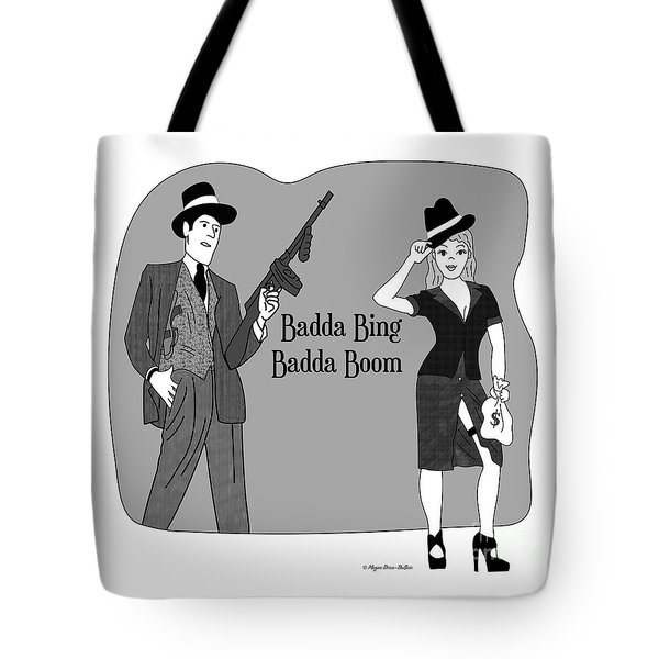 Tote Bag featuring the digital art Baddabing by Megan Dirsa-DuBois