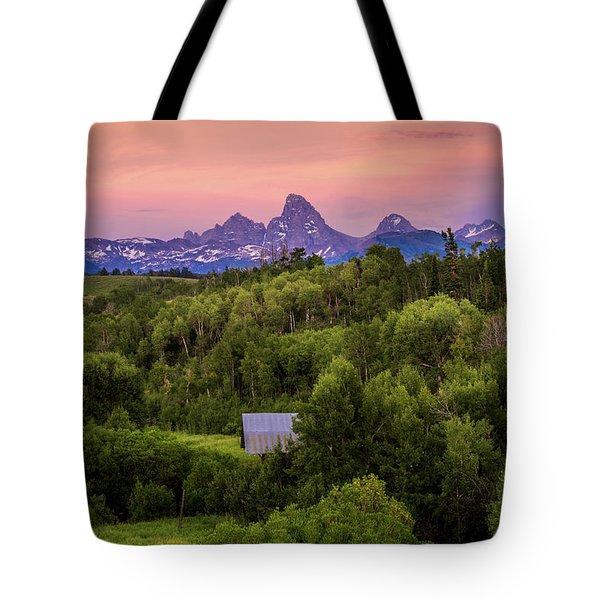 Badger Creek Sunset Tote Bag