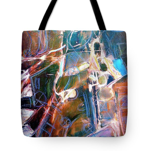 Tote Bag featuring the painting Badlands 1 by Dominic Piperata