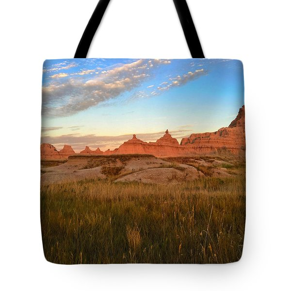Badlands Evening Glow Tote Bag
