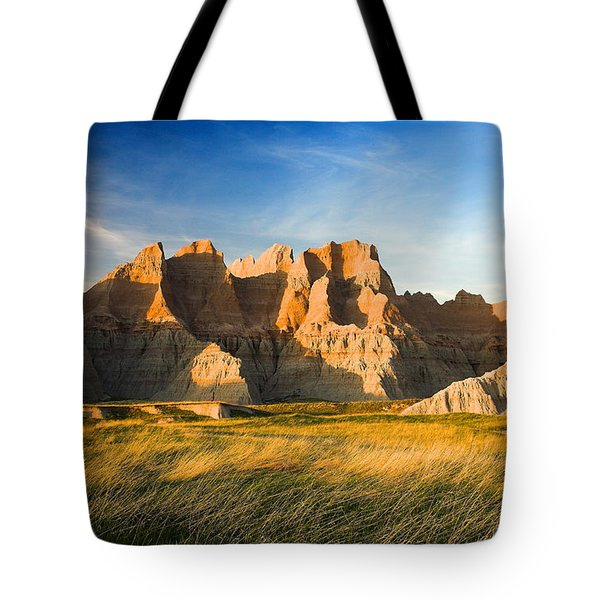 Tote Bag featuring the photograph Badlands In Late Afternoon by Rikk Flohr
