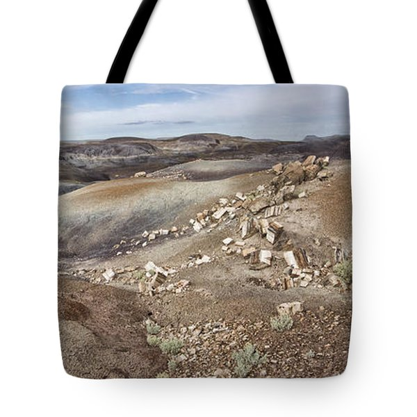 Tote Bag featuring the photograph Badlands In Petrified Forest by Melany Sarafis
