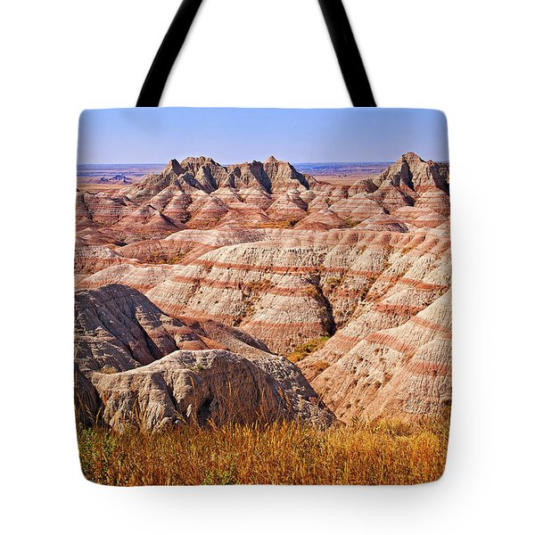 Tote Bag featuring the photograph Badlands by Mary Jo Allen
