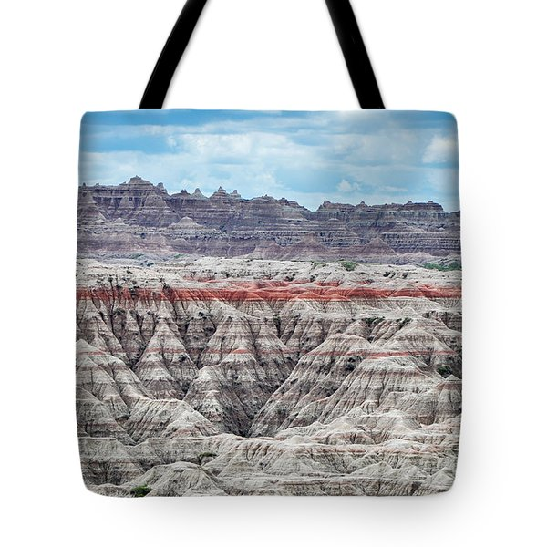 Tote Bag featuring the photograph Badlands National Park Vista by Kyle Hanson