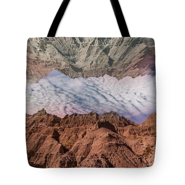 Badlands Reflection.... Tote Bag