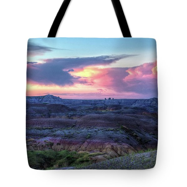 Badlands Sunrise Tote Bag
