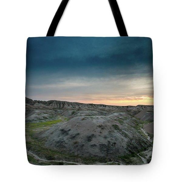 Badlands Sunset Tote Bag