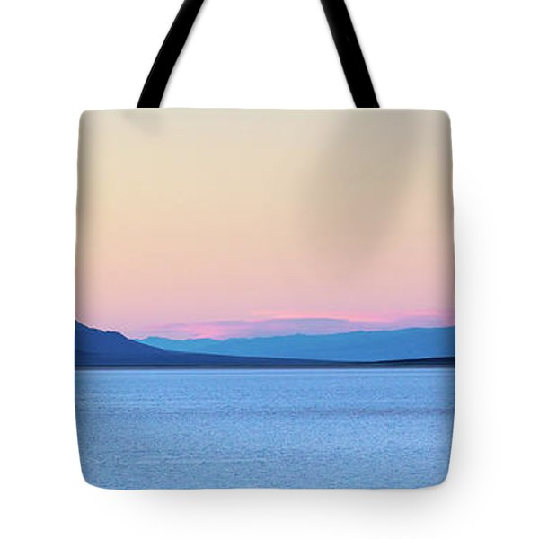 Tote Bag featuring the photograph Badwater - Death Valley by Peter Tellone