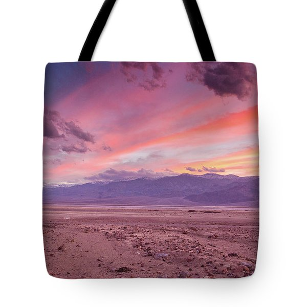 Badwater Sunset Tote Bag